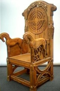 The throne of Rohan - also from LOTR